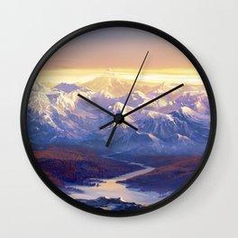Stunning View Of Mountain Range Ultra HD Wall Clock