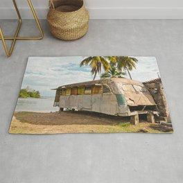 Playa Larga Bus Cuba Beach Hobo House Landscape Tropical Island Home Caribbean Sea Rug