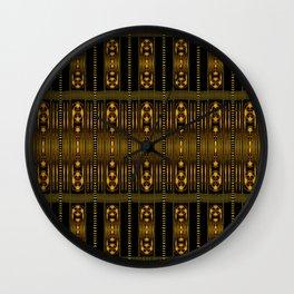 Golden Clasp Pattern Wall Clock