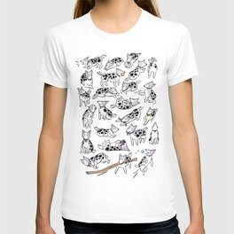 The Many Faces of Jetpack the Dog T-shirt
