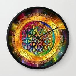 Life Mandala Wall Clock