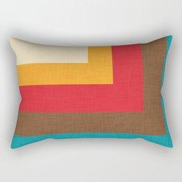 Abstract Mod Cube Beige #midcenturymodern Rectangular Pillow