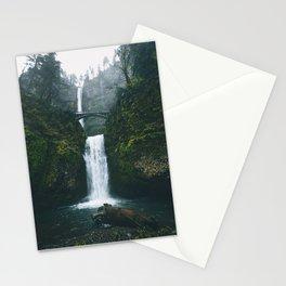 Fog at Multnomah Falls, Oregon Stationery Cards