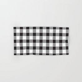 Buffalo Check - black / white Hand & Bath Towel