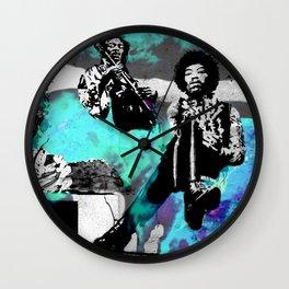 JIMI - 3 portraits Wall Clock