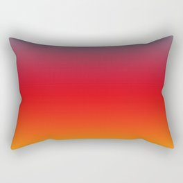 Aruba - Classic Colorful Blue Red Yellow Abstract Minimal Modern Summer Style Color Gradient Rectangular Pillow