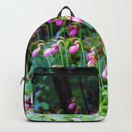 Wild Orchid Lady Slipper Forest Flowers Found in Rhode Island Backpack