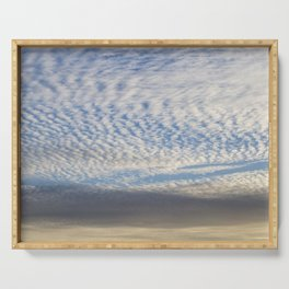 Cirrocumulus Clouds 5 Serving Tray