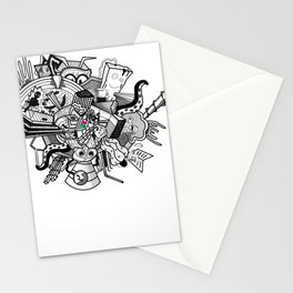 Abstract Combination Crazy Cartoons Stationery Cards