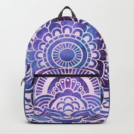 Galaxy Mandala Purple Lavender Blue Backpack