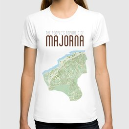 Map of the people's republic of Majorna T-shirt