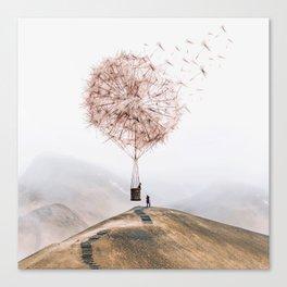 Flying Dandelion Leinwanddruck