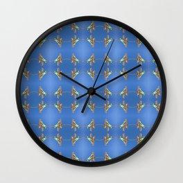 Clothes-peg Tartan. Wall Clock