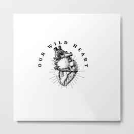 Wild Beating Heart Metal Print