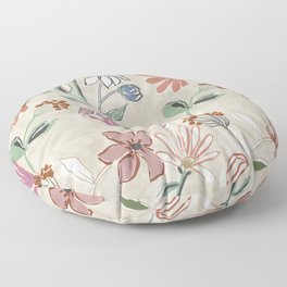 Monday Floral Floor Pillow