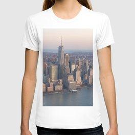Manhattan from sky T-shirt