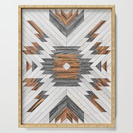 Urban Tribal Pattern No.8 - Aztec - Wood Serving Tray