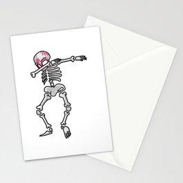 Dabbing Sugar Skull Calavera Mexican Holiday Funny Dia De Muertos Traditional Cool Gift Stationery Cards