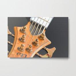 Morphed Electric Bass Metal Print