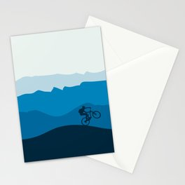 MTB Mountain Bike Cycling the Mountains Stationery Cards