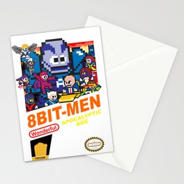 8bit-Men Apocalyptic Age Stationery Cards