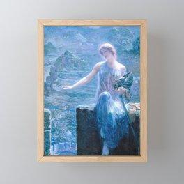 Edward Robert Hughes - The Valkyrie's Vigil - Digital Remastered Edition Framed Mini Art Print