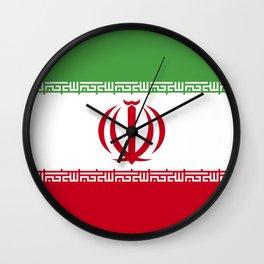 Iran flag emblem Wall Clock