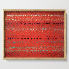 African American Masterpiece Alma Thomas, Red Sunset, Old Pond Concerto Serving Tray