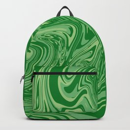 Green pastel abstract marble Backpack