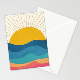 Sea Sunrise Stationery Cards