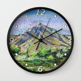The view from Mashuk mountain (Pyatigorsk). Ladscape be pastel Wall Clock