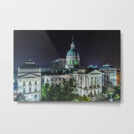 The Indiana Statehouse 02 Metal Print
