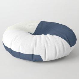 Blush meets Navy Blue & White Geometric #1 #minimal #decor #art #society6 Floor Pillow