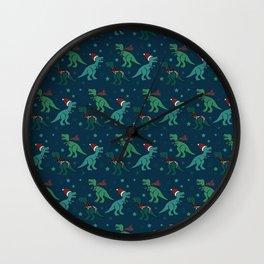 Holiday T-Rex Wall Clock