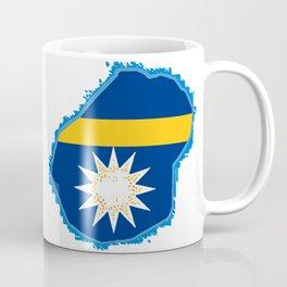 Nauru Map with Nauruan Flag Coffee Mug