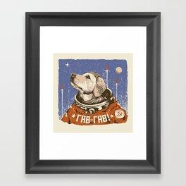 Soviet Space Dog Framed Art Print