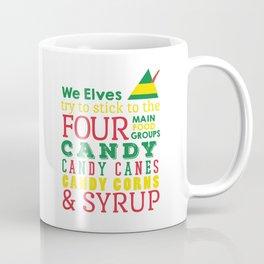 Elves food Groups - Elf the movie Coffee Mug