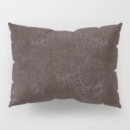 Brown Cracking  Leather-Look Pillow Sham