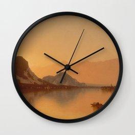 Sanford Robinson Gifford - Isola Bella In Lago Maggiore Wall Clock