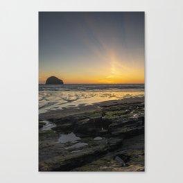 Sun and Coast Canvas Print
