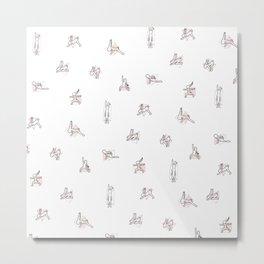 Rabbit Yoga Metal Print