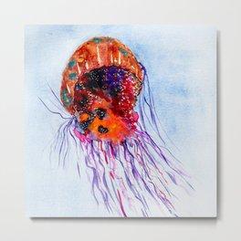 Rainbow Jelly Fish  Metal Print