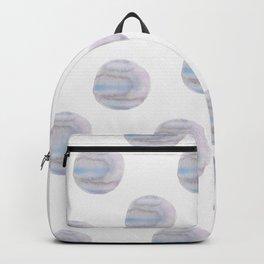Blue Watercolor Polka Dots Backpack