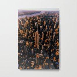 New York City // Retro 54 Metal Print