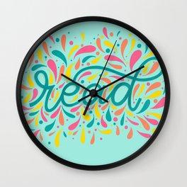 Reading is Beautiful Wall Clock