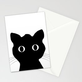 Black eyes cat Stationery Cards