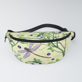 blueberry pattern with dragonflies  Fanny Pack