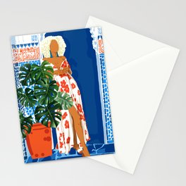 Culture, Colorful Bold Eclectic Modern Bohemian Middle East travel Exotic Woman Fashion Architecture Stationery Cards