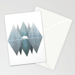 Misty Forest Mountain Bear Stationery Cards