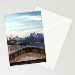 Torres del Paine National Park Chile, The Boat in Patagonia Stationery Cards